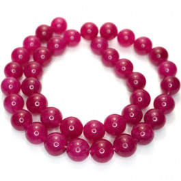 Malay Jade Fuchsia 10mm Round Beads