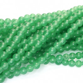 Malay Jade Green 4mm Round Beads