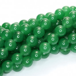 Malay Jade Green 8mm Round Beads