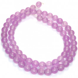 Malay Jade Orchid 6mm Round Beads