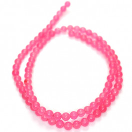 Malay Jade Rose Pink 4mm Round Beads