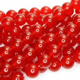 Malay Jade Red 10mm Round Beads