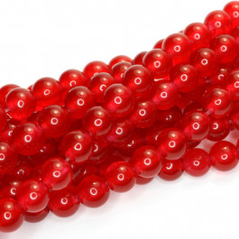 Malay Jade Red 6mm Round Beads
