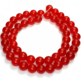 Malay Jade Red 8mm Round Beads