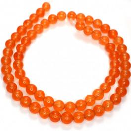 Malay Jade Orange 6mm Round Beads
