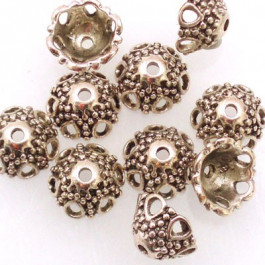Tibetan 12x7mm Bead Cap (Pack 10)