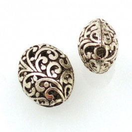 Tibetan Silver 21x17x13mm Beads (Pack 2)