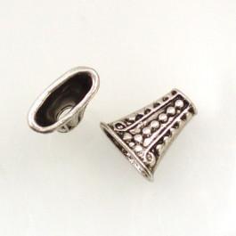 Tibetan Silver 17x18x9mm Bead Caps (Pack 2)