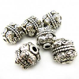 Tibetan Silver 10mm Studded Beads