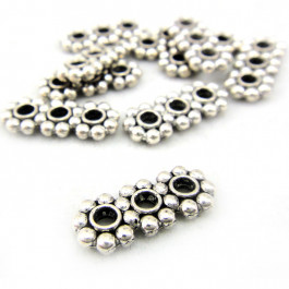 Tibetan Silver 16x7mm 3 Hole Bead Spacers