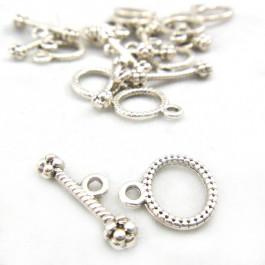 Tibetan Silver Small Oval Toggle Clasp