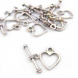 Tibetan Silver Heart Toggle Clasp