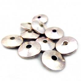 Tibetan Silver 11.5mm Plain Saucer Beads