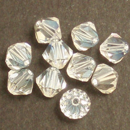 Swarovski® 4mm Crystal Moonlight Bicone Xilion Cut Beads (Pack of 10)