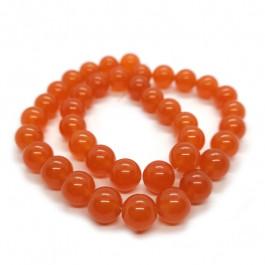 Malay Jade Orange 10mm Round Beads