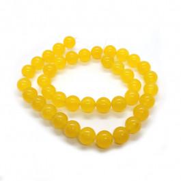 Malay Jade Yellow 10mm Round Beads
