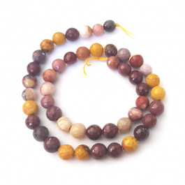Mookaite Faceted 8mm Round Beads