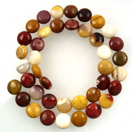Mookaite 10mm Coin Beads