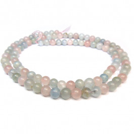 Morganite 4mm Round Beads
