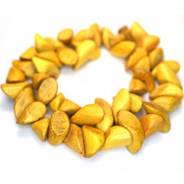 Nangka Small Slice Wood Beads