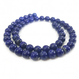 Natural Colour Lapis Lazuli 8mm Round Beads