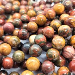 New Picasso Jasper 10mm Round Beads