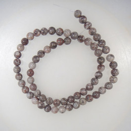 Ocean Fossil 6mm Round Beads