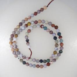 Ocean Jasper 4mm Round Beads