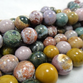 Ocean Jasper 10mm Round Beads