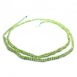 Peridot 2mm Faceted Round Beads