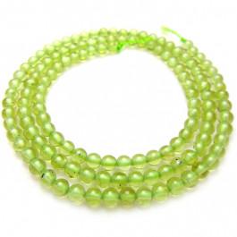 Peridot 3mm Round Beads