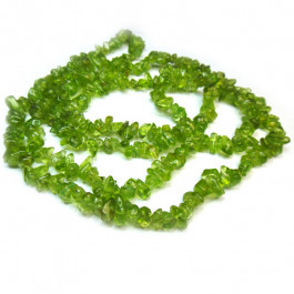 Peridot 5x8mm Gemstone Chip Beads