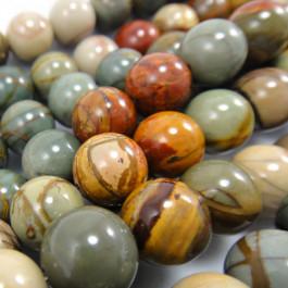 Picasso Jasper 10mm Round Beads