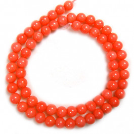 Pink Coral 6mm Round Beads