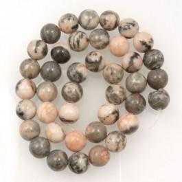 Pink Zebra Jasper 10mm Round Beads