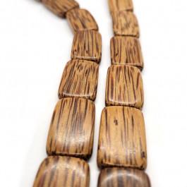 Palmwood Flat Rectangle Wood Beads