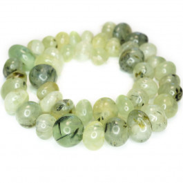 Prehnite Center Drilled Nugget Beads