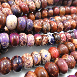 Purple Impression Jasper 5x8mm Rondelle Beads