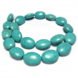 Reconstituted Turquoise 15x20mm Oval Beads Bead Shop