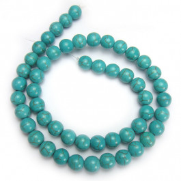 Reconstituted Turquoise 8mm Round Beads