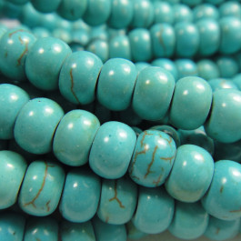 Reconstituted Turquoise Rondelle