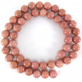 Rhodonite 8mm Round Beads