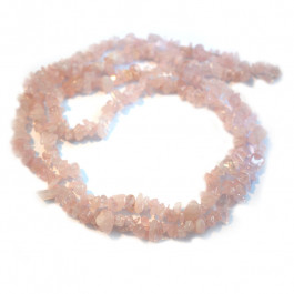 Rose Quartz Chip Beads