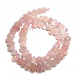 Rose Quartz Center Drilled Nugget Beads