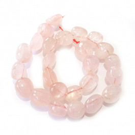 Rose Quartz Nugget Beads