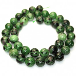 Ruby Zoisite 10mm Round Beads