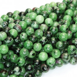 Ruby Zoisite 6mm Round Beads