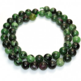 Ruby Zoisite 8mm Round Beads