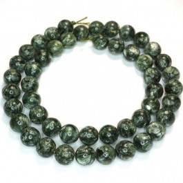 Seraphinite 8mm Round Beads