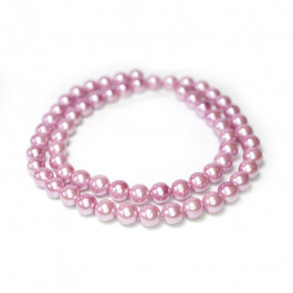 Shell Pearl Purple 6mm Round Beads